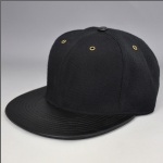 custom wholesale black blank snapback cap