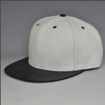 black grey blank snapback hat for custom your logo