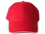 red cotton sandwich 6 panel baseball cap can custom print or embroidery logo